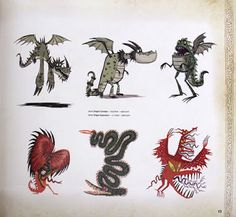 Living Lines Library: How To Train Your Dragon (2010) - Character Design