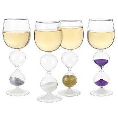 Wine Hourglasses - Set of 4 - Who can drink the fastest?