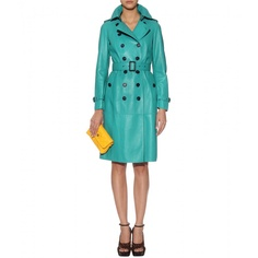 For a mere $5,355 I can own this AMAZING Burberry leather trench...turquoise, leather and a trench...was there ever a greater match in fashion heaven??