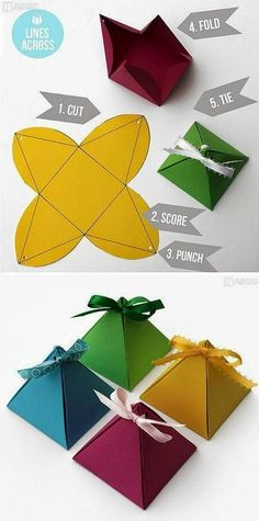 Handmade DIY pretty picture origami paper art three-dimensional pyramid pyramid gift box is very simple . Christmas Gift Wrapping, Christmas Crafts, Handmade Christmas, Christmas Tree, Gift Wrapping Tutorial, Wrapping Ideas, Wrapping Gifts, Papier Diy, Ideias Diy