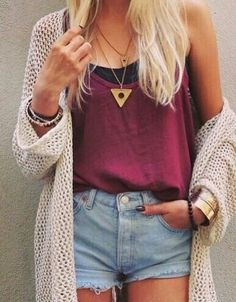 beauty, cardigan, ootd, shorts, style, top