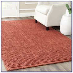 Red Sisal 6x9 Area Rug