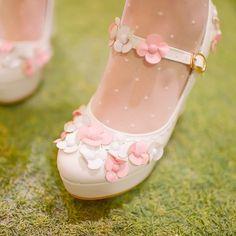 糖果雨原创2016春季新款甜美气质花朵防水台浅口粗跟高跟单鞋女鞋