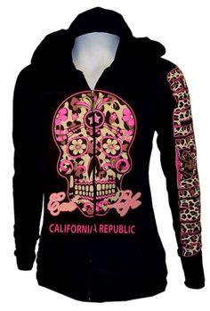 Women Sugar Skull Hoodie Sweater