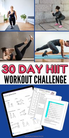 Bum Workout, Belly Fat Workout, Cardio Workouts, Hiit Program, Workout Programs, Workout Plan For Beginners, Plus 8, Fat Burning Workout, Workout Challenge