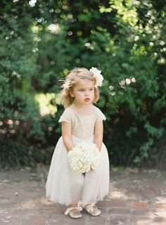 Flower girl with mini bouquet