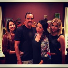Ashley with her sister and parents