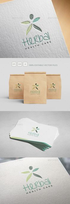 Herbal Company Logo — Vector EPS #nature #lifestyle • Download ➝ https://graphicriver.net/item/herbal-company-logo/19632597?ref=pxcr