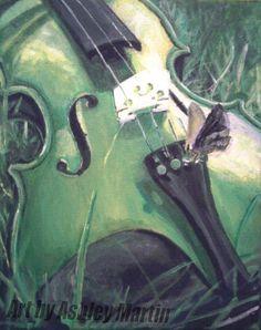 Summer Violin by Art-By-Ashley-Martin.deviantart.com on @DeviantArt