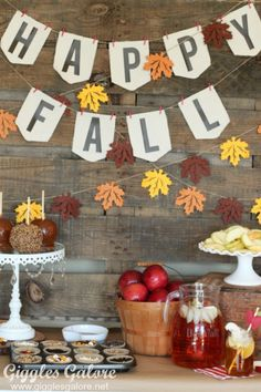 Happy Fall Caramel Apple Bar from MichaelsMakers Giggles Galore
