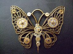 steampunk | Cute Steampunk butterfly brooch by babypikelin – galleryshooter.com