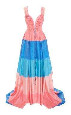 Carolina Herrera Striped Sweetheart Gown $5,990