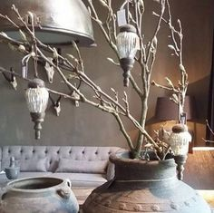 Christmas feeling at Beautiful shop with lots of inspiration. Fresco lime paint in the color Potato Skin on the wall. Christmas Feeling, Merry Little Christmas, Country Christmas, Christmas 2016, Christmas Trees, Xmas, Lime Paint, Rustic French Country, Holiday Themes