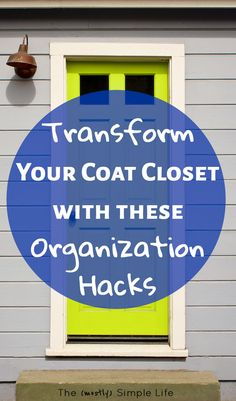 Ideas for how to organize an entryway / coat closet. There's so many shoes, jackets, backpacks, storage crap...It's easily a disaster zone. These work for a small front entry too! #organize #organization #entryway #coatcloset #organized #homeorganization #organizationideas