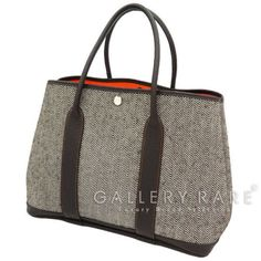 Authentic-Hermes-Tote-Bag-Garden-Party-PM-Stamp-N-Tweed-GR-1563481