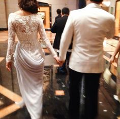 Liyana in custom Alia Bastamam Bridal with her groom on the way to the wedding after party last night.