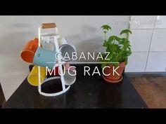 Metal rack with beech wood handle. Suitable for 8 mugs Mug Rack, Metal Rack, Coffee Mugs, Handle, Make It Yourself, Tea, Wood, Collection, High Tea