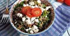 Recipe: Lentil and Feta Tabbouleh | Greatist...needs more fresh herbs but base recipe sounds good