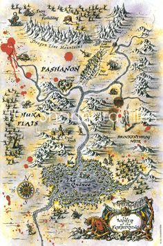 World of the Forbidding from the High Druid of Shannara series by Terry Brooks Shannara Map, Shannara Series, Shannara Books, Fantasy Map Making, Fantasy World Map, High Fantasy, Fantasy Art, Rpg Map, Life Map