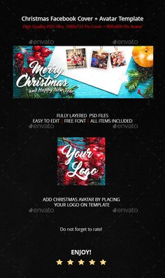 Merry Christmas - Facebook Cover & Avatar - Facebook Timeline Covers Social Media