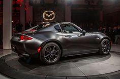 2017 Mazda MX 5 Miata RF on stage side rear view lights on