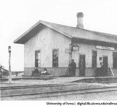 Fonda, Iowa. IC :: John P. Vander Maas Railroadiana