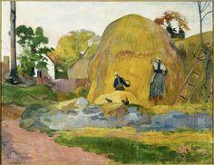 Paul Gauguin • Les meules jaunes, 1889