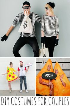 DIY Halloween Costumes For Couples: If you're in the mood to dress up with your spouse this year, here are a few ideas that are prize-worth in themselves! Halloween Jokes, Halloween This Year, Couple Halloween, Diy Halloween Costumes, Cool Costumes, Halloween Crafts, Happy Halloween, Halloween Decorations, Halloween Ideas