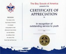 District scouter training certificate scouting pinterest appreciation certificate yelopaper Choice Image