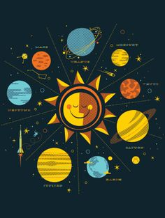 Solar System T-shirt design by Brent Couchman