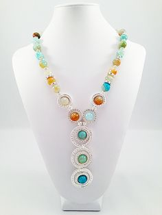 K by Design Ingenue Collection spring/summer 2013 #summer #spring #2013 #fashion #bold #necklace #necklace #oceanblueagate #agate #blue #silver #kbydesign