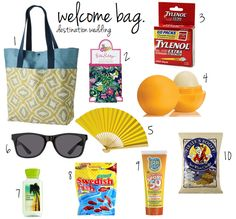 ... on Pinterest Welcome bags, Wedding welcome bags and Welcome gifts