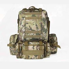Camo Military Rucksack Outdoor Tactical Backpack Travel Camping Bags - US$50.99
