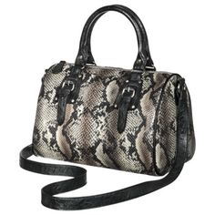 Mossimo® Natural Barrel Satchel Snake....i REALLY want this!