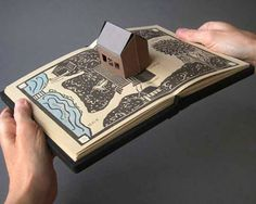 art book by Laura Davidson #house #popup #paper_folding