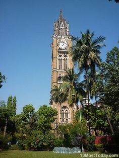 Torre del reloj Rajabai, Mumbai, India