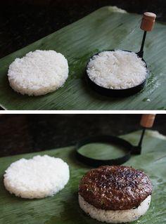 Sticky Rice Burger
