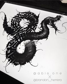 Sketch collab with ✍🏻⚔️🐍 If anyone is down to get this tattooed by us both, large scale, hit us up. Tattoo Lettering Design, Neck Tattoo For Guys, Blackout Tattoo, Fantasy Tattoos, Snake Art, Dark Tattoo, Line Work Tattoo, Snake Tattoo, Chest Tattoo