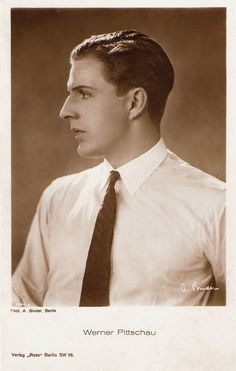 https://flic.kr/p/Hsw3GV | Werner Pittschau | German postcard by Ross Verlag, no. 1494/2, 1927-1928. Photo: A. Binder, Berlin.  Handsome actor Werner Pittschau (1902-1928) was the promising Jeune Premier of the silent Austrian cinema. Sadly he was killed in a road accident at the age of 26.  For more postcards, a bio and clips check out our blog European Film Star Postcards Already over 3 million views! Or follow us at Tumblr or Pinterest.