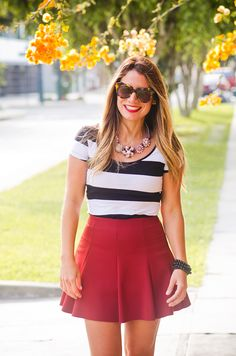 Look de hoy: skater skirt
