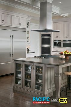 Need a little island getaway? Jenn-Air has you covered. The revolutionary luxury of a stainless steel cook top can make your kitchen island the vacation you need from your frustrating old appliances. Professional-style ranges, stainless steel refrigerators: it's time to remodel your kitchen into the kitchen oasis of your dreams. (Cabana boys not included.) Talk to an expert at Pacific Kitchen & Home Inside Best Buy to see how easy we can make it.