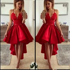 04c525e0a22b H62 V-Neck High-Low Pretty Short/Mini Homecoming dress ,A-. Zibbet