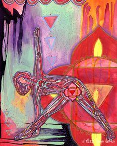Yoga Art Root Chakra Print