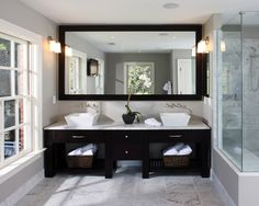 Master bath - maybe I'll just get rid of my dark granite and sinks and do this since I have the rest
