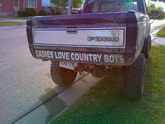 Ladies love country boy on tha truck!