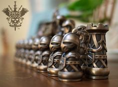 "Studioqubed, LLC is raising funds for Throne of Kings: The Art of War on Kickstarter! A classic game of chess where intellectual wars are enjoyed using finely crafted pieces of art. Behold ""The Art of War"" Chess Pieces, Art Pieces, Chess Set Unique, Play Therapy Techniques, Kings Game, 3d Prints, Wood Carving, Board Games, Chess Sets"