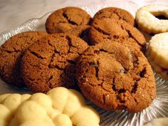 Swedish Ginger Cookies With Crystallized Ginger  *I want to half-dip these in white chocolate and dark chocolate