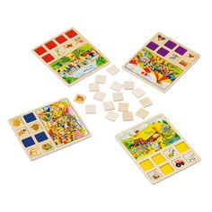 GOKI Lavinamasis nuotykių Loto Lotto Games, Mandala, Playing Cards, Puzzle, Educational Toys, Objects, Games, Cards, Farmhouse