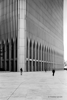 The World Trade Center. NYC. Minoru Yamaski Architect. Designed in 60s. Completed in 1973