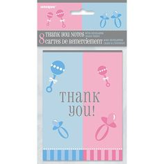 Show gratitude to friends and family after the big reveal. Send one of our Gender Reveal Thank You Notes to share your sentiments. The adorable cards keep the gender neutral theme going even after the